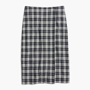 Madewell Plaid Wrap Midi Skirt